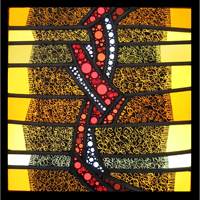stained_glass/ modern / painted/ custom